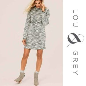 Lou & Grey Peppered Boucle Shift Dress Small Black